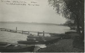 Silver Lake Wisconsin WI ~ Dock, Boats c1937 RPPC Postcard - from Unknown Resort