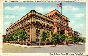 Pennsylvania Philadelphia Main Building Drexel Institute Of Technology 1941 C...