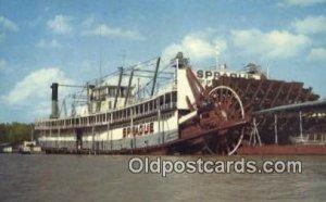 The Showboat, Prague, Vicksburg, Mississippi, MS USA Steam Ship Unused