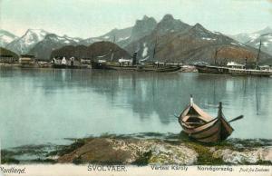 Nordland Norge Norway Svolvær Svolvaer ships boats Vertesi Karoly pictorial card