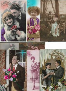 Lot of Victorian Style Romantic Theme Postcards of 20   01.16
