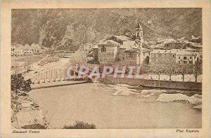 Postcard Old Breil (Alpes Maritimes) Station has Frontiere Franco Italian