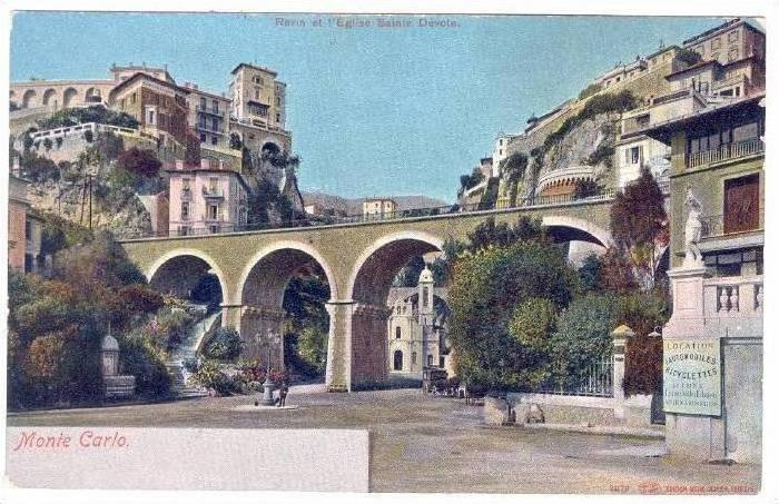 Ravin et l'Eglise Sainte-Devote, Monte Carlo, Monaco, 1900-1910s