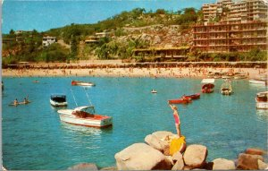 Old Postcard Mexico Acapulco Advertising Card for American Airlines Beach Resort