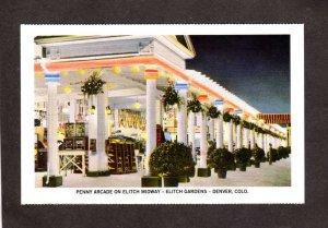 NE Penny Arcade Amusement Park Elitch Gardens Denver Colorado Postcard Reprint