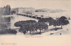 Pont Du Montblanc, Geneve, Switzerland, 1900-1910s