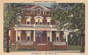 Carslake's Dining Rooms , MT. HOLLY , New Jersey , 30-40s