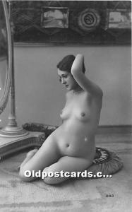 French Nude Postcard Non Postcard Backing