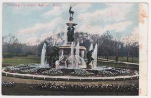 Hartford CT Corning Fountain Reichner Brothers Vintage Postcard Early 1900s A37