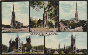 Five Views Of Principal Churches, Toronto, Ontario, Canada, 1900-1910s