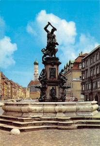 Augsburg Herkulesbrunnen Statues Fountain Auto Cars