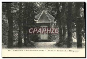 Old Postcard Chateau de Malmaison The Study of Emperor Napoleon 1st
