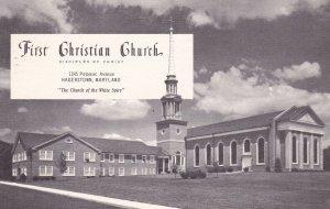 HAGERSTOWN , Maryland, PU-1974; First Christian Church