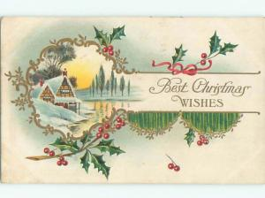 Divided-Back CHRISTMAS SCENE Great Postcard W8683