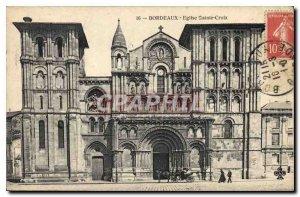 Postcard Old Bordeaux Eglise Sainte Croix