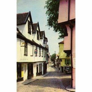 Cotman Color Series Postcard 'Elm Hill, Norwich'