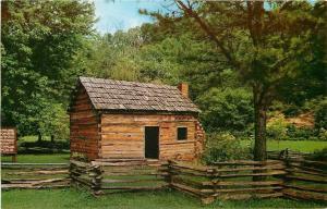 Hodgenville Kentucky~Abraham Lincoln's Boyhood Home at Knob Creek 1950s Postcard