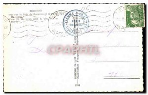 Old Postcard Menton views Garavan Bay and the Italian Border