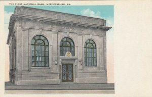 MERCERSBURG , Pa , 1900-10s ; First National Bank