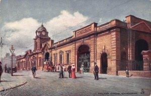 Midland Train Station, Nottingham, England, Early Tuck Postcard, Unused