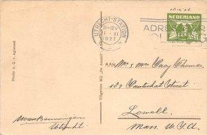 13268   Netherlands utrecht-station Postmark Cancel 1927