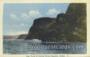 Quebec Canada, du Canada Caps Trinite et Eternite, Riviere Saguenay  Caps Tri...