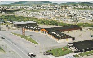 Aerial View, Nordic Motel Hotel Inc., Chibaugamau, Quebec, Canada, PU-1984