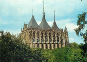 Postcard Czech republic kutna hora st barbara cathedral church architecture