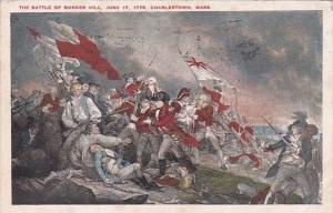 The Battle Of Bunker Hill 17 June 1775 Charlestown Massachusetts 1927