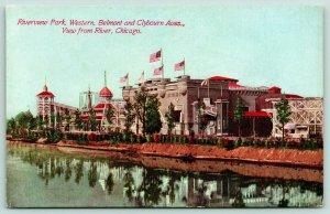 Chicago IL~Riverview Amusement Park~Western Backside~Blemont & Clybourn~c1910