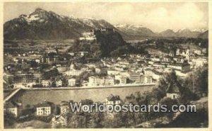 Vom Kapuzinerberg Salzburg Germany 1915
