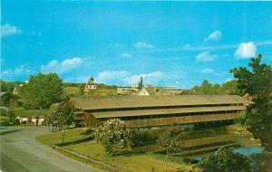 Shelburne Covered Bridge Museum Entrance VT Vermont Postcard