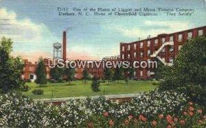 Liggett & Myers Tobacco Company in Durham, North Carolina