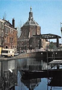 Netherlands Leiden, Marekerk, Church Bridge Cars Autos Voitures Eglise