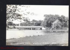 RPPC WINDOM MINNESOTA ISLAND PARK BRIDGE VINTAGE REAL PHOTO POSTCARD