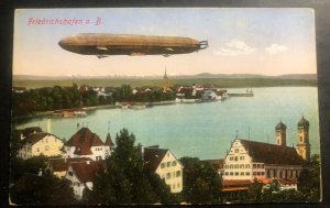 Mint Color Picture Postcard Germany Zeppelin Airship Over Friedrichshafen