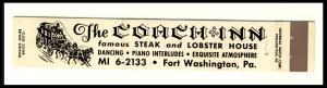 Fort Washington, Penn/PA Mini-Matchcover, The Coach Inn