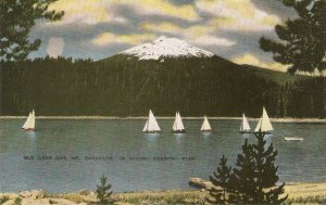 Blk. Lake and Mt. Bachelor in Scenic Oregon Nice Amercan Postcard 1950s