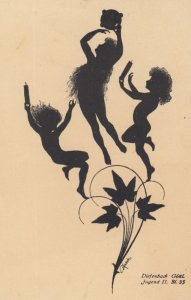 DIEFENBACH : Fantasy Silhouette , 00-10s ; Jugend II. BL. 35 ; Tan paper