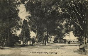 indonesia, JAVA MAGELANG, Railway Station, Aloon-Aloon, Steam Train (1912)