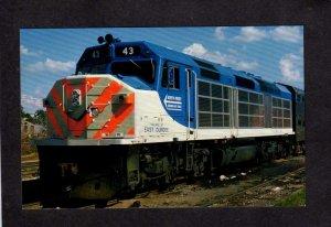 Village East Dundee Railroad train Locomotive Illinois Mass Transit Postcard