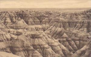 View Of Pinnacles The Badlands Nat Monument South Dakota Albertype
