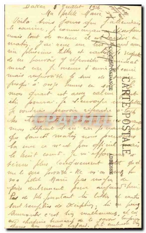 Old Postcard Guinea Conakry port service