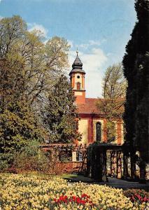 Insel Mainau im Bodensee Narzissenwiese mit Schlosskirche Church