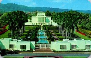 Hawaii Oahu Laie The Mormon Temple
