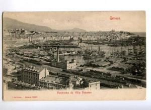 171836 ITALY GENOVA Villa Rosazza railway harbour postcard