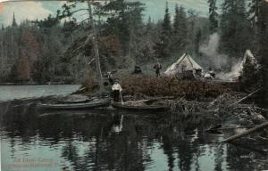 Algonquin National Park , Ontario, 1900-10s ; An Ideal Camp
