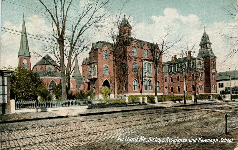 ME - Portland. Bishop's Residence and Kavanaugh School