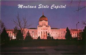 Helena Montana~Night Scene Of Beautiful State Capitol Building~1950s PC