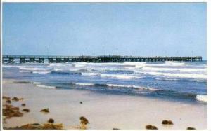 The free fishing pier near the Padre Island, Corpus Christi, Texas,40-60s